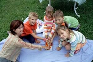 Spielen in den Sommerferien