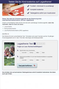 Online-Test Legasthenie LRS