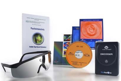 Inhalt der Mind Explorer Light und Sound Synergizer